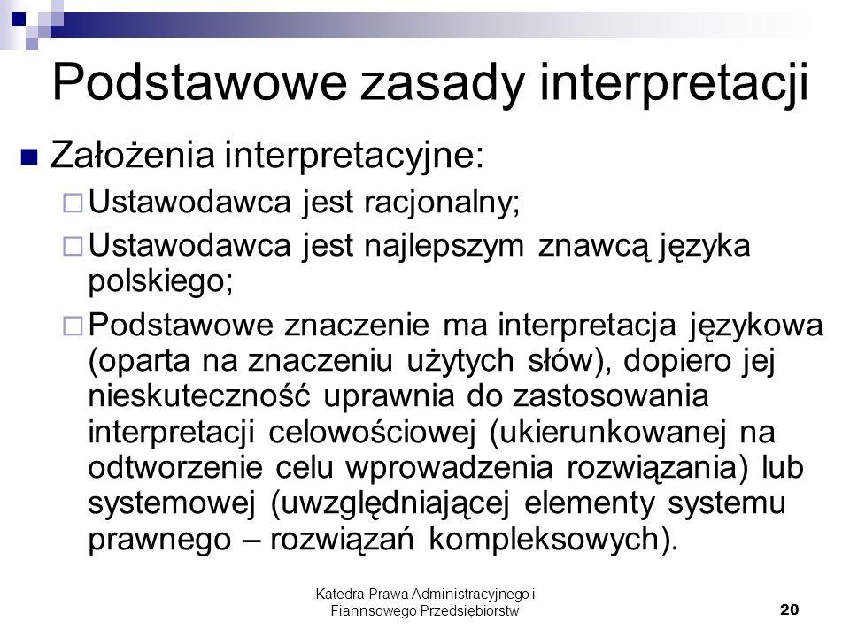 Podstawowe zasady interpretacji