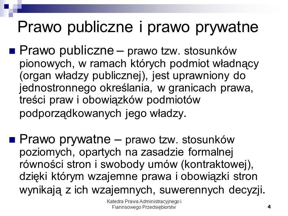 Prawo publiczne i prawo prywatne