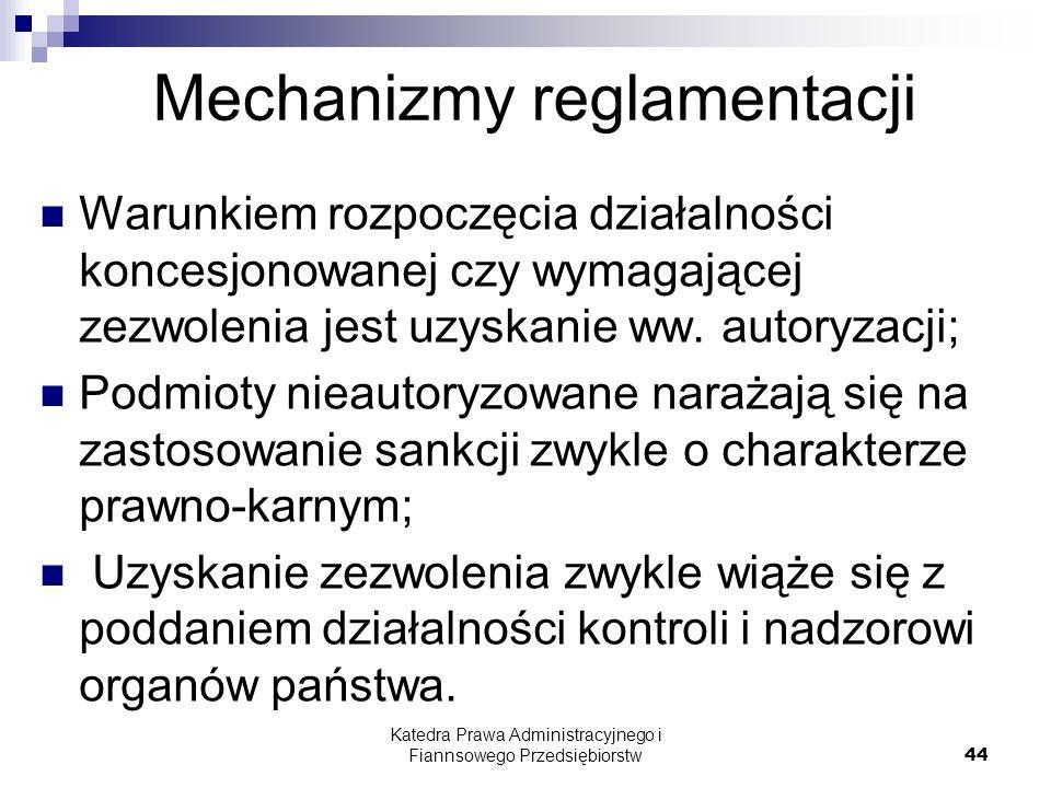 Mechanizmy reglamentacji