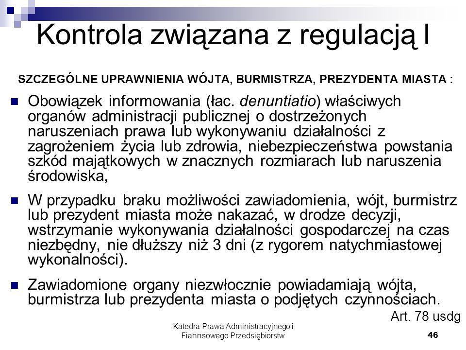 Kontrola związana z regulacją I