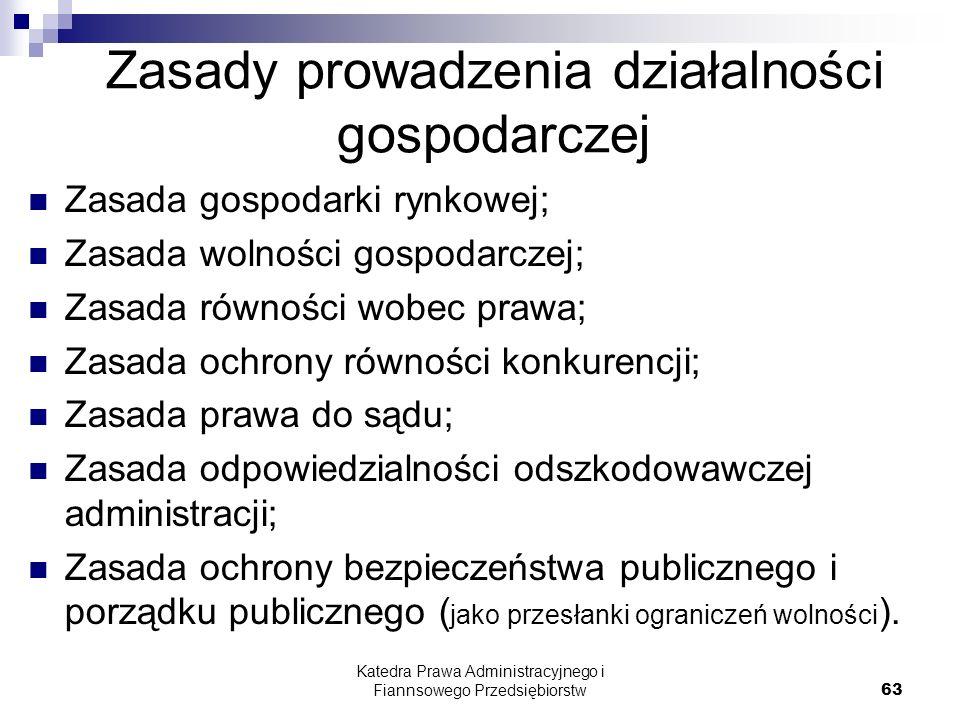 Zasady prowadzenia działalności gospodarczej