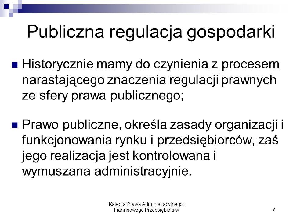 Publiczna regulacja gospodarki
