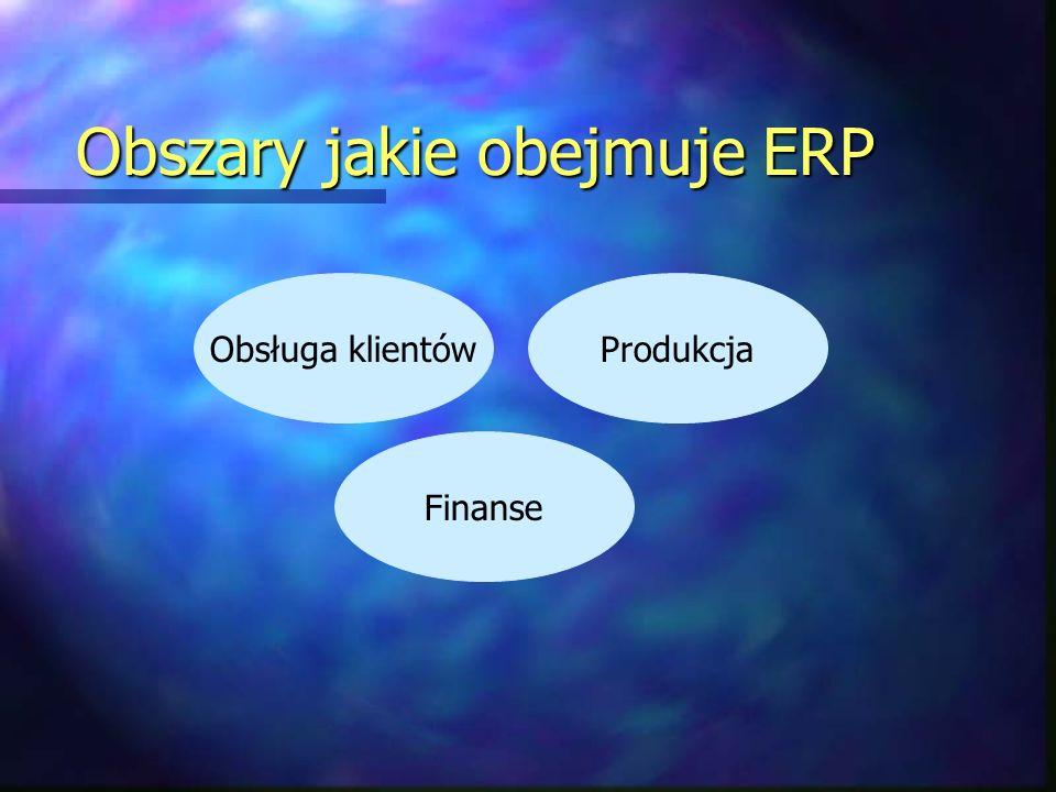 Obszary jakie obejmuje ERP