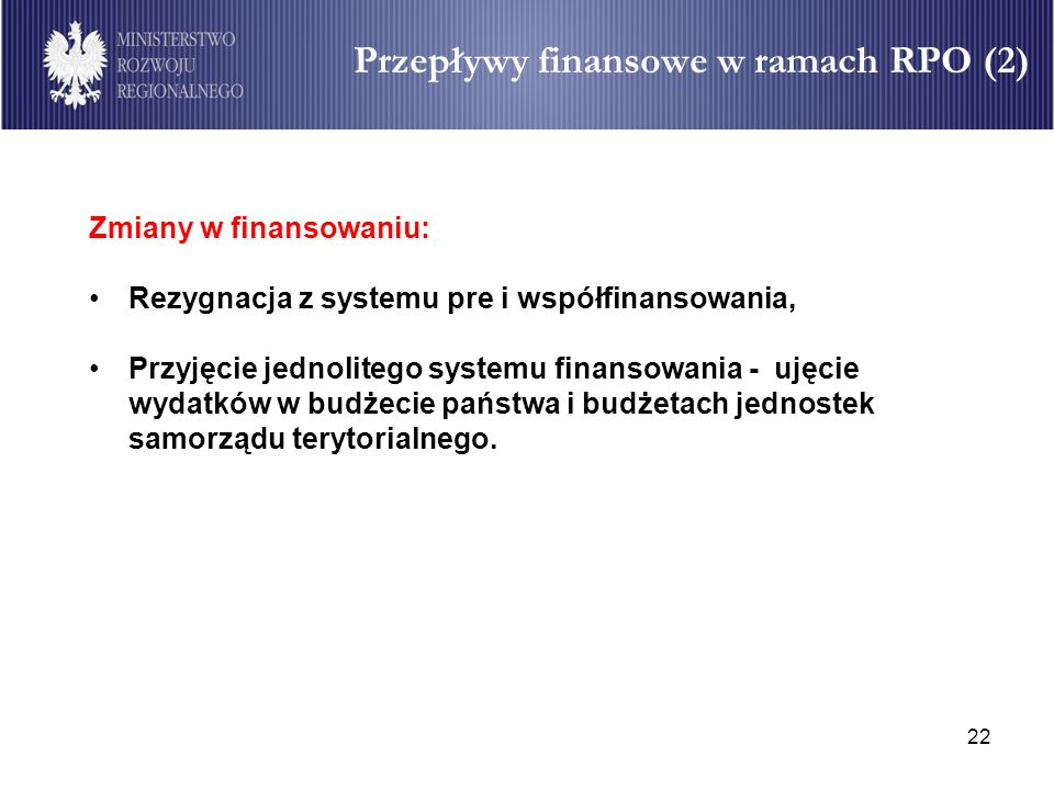 Przepływy finansowe w ramach RPO (2)