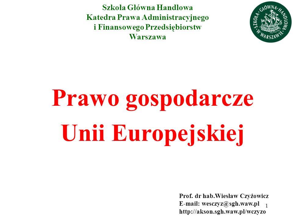Prawo gospodarcze Unii Europejskiej