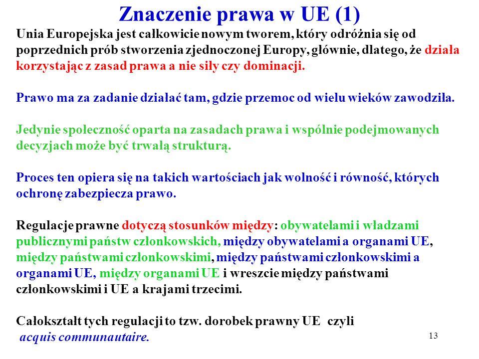 Znaczenie prawa w UE (1)