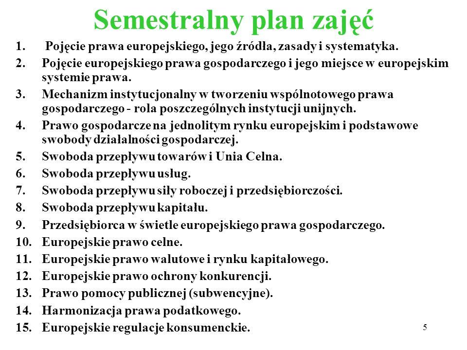 Semestralny plan zajęć