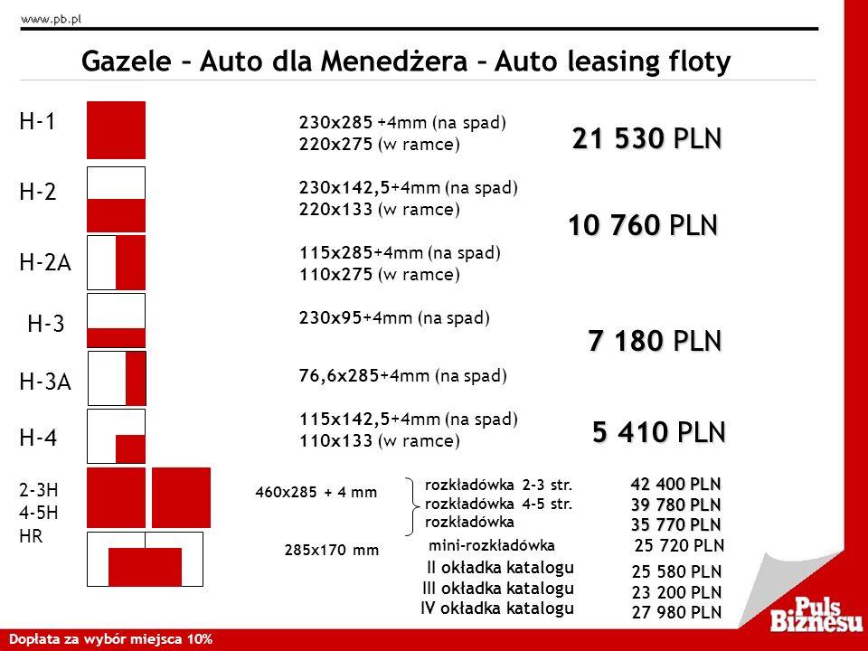 Gazele – Auto dla Menedżera – Auto leasing floty
