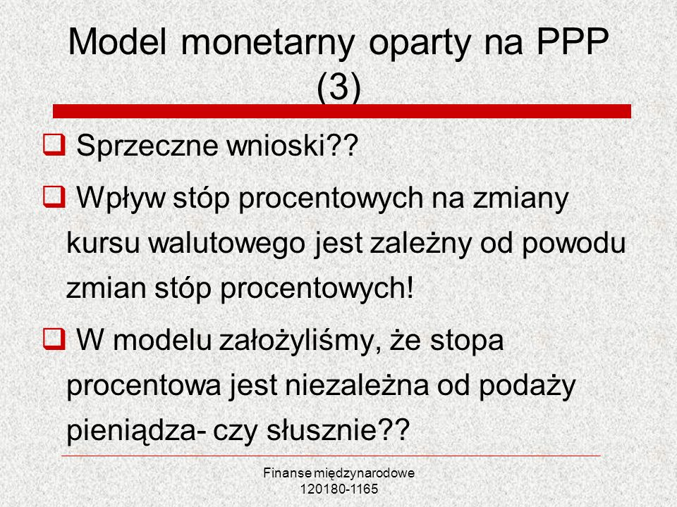 Model monetarny oparty na PPP (3)