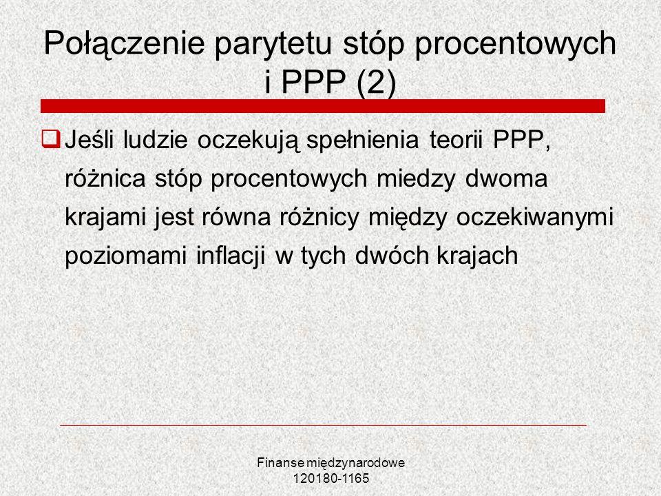Połączenie parytetu stóp procentowych i PPP (2)