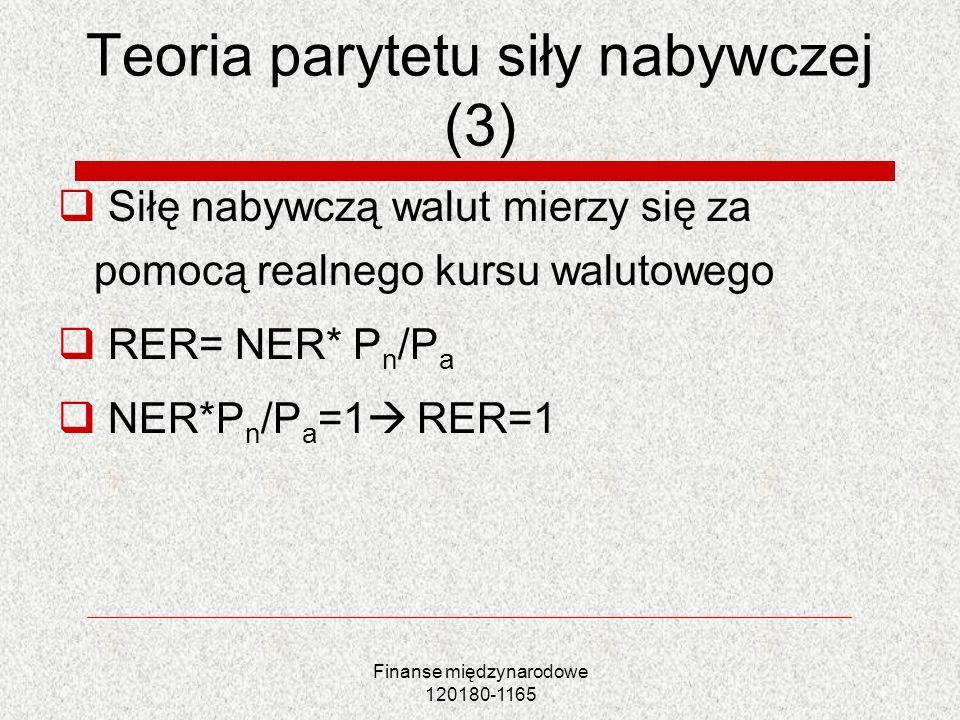 Teoria parytetu siły nabywczej (3)