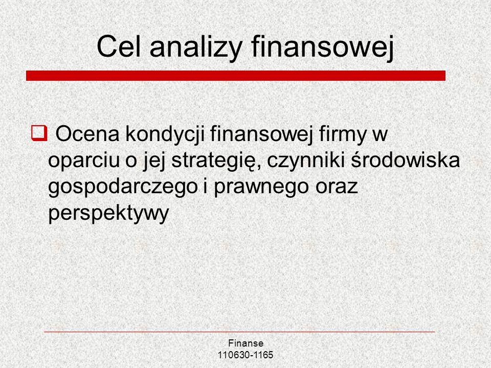 Cel analizy finansowej