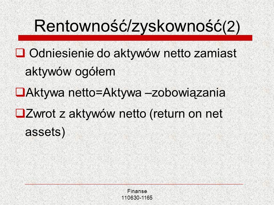 Rentowność/zyskowność(2)