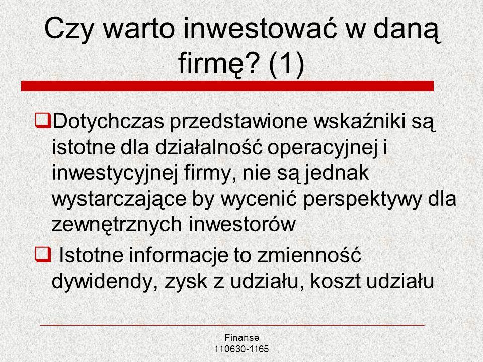 Czy warto inwestować w daną firmę (1)