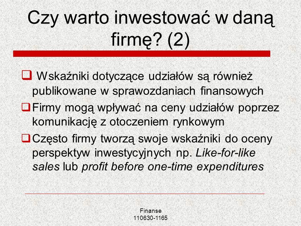 Czy warto inwestować w daną firmę (2)