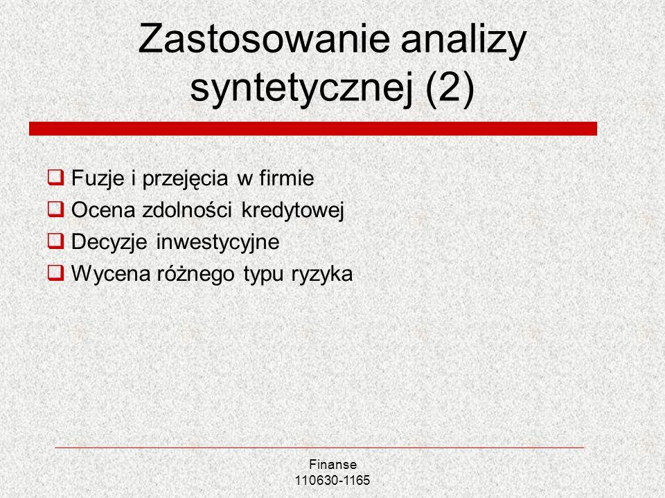 Zastosowanie analizy syntetycznej (2)