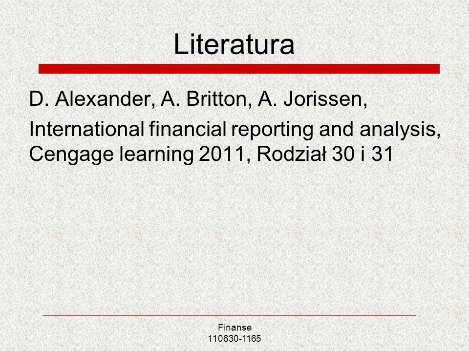 Literatura D. Alexander, A. Britton, A. Jorissen,