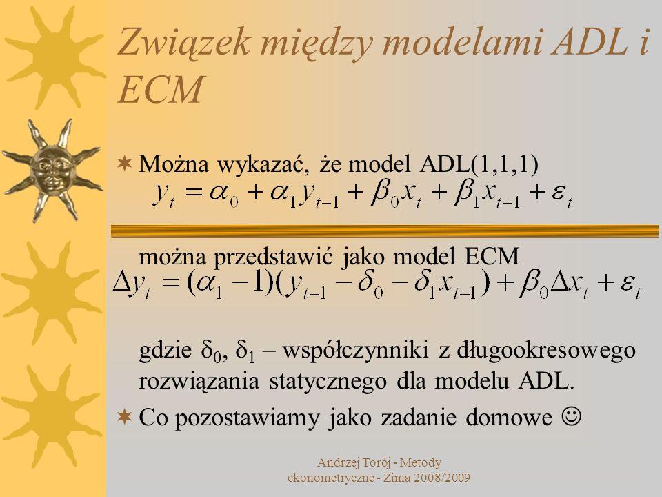 Związek między modelami ADL i ECM