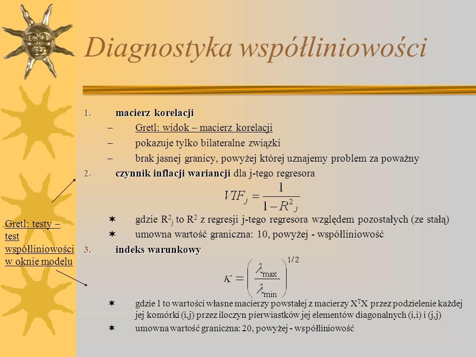 Diagnostyka współliniowości