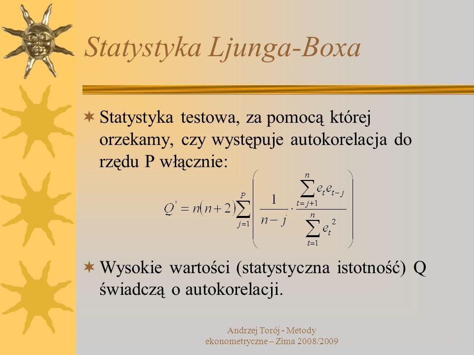 Statystyka Ljunga-Boxa