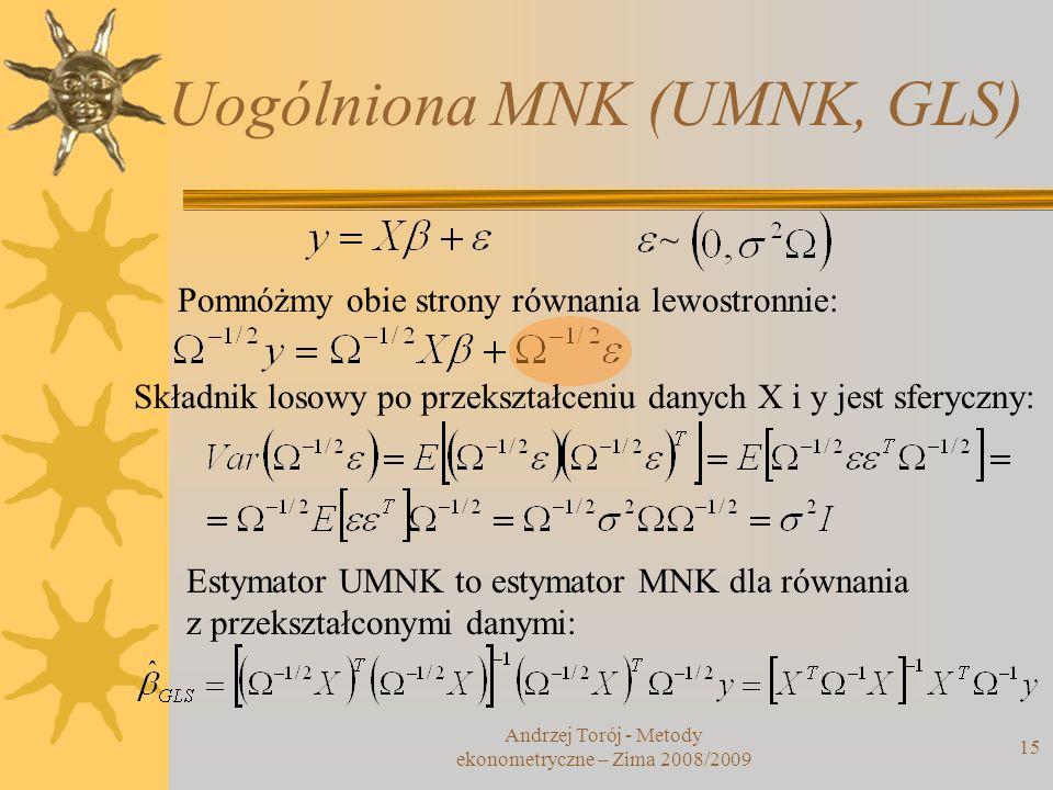 Uogólniona MNK (UMNK, GLS)