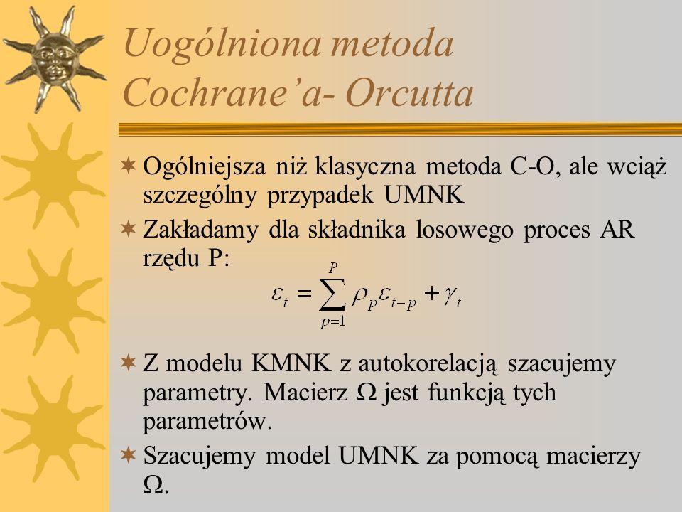 Uogólniona metoda Cochrane'a- Orcutta