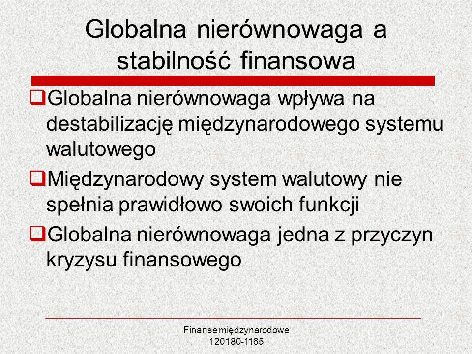 Globalna nierównowaga a stabilność finansowa