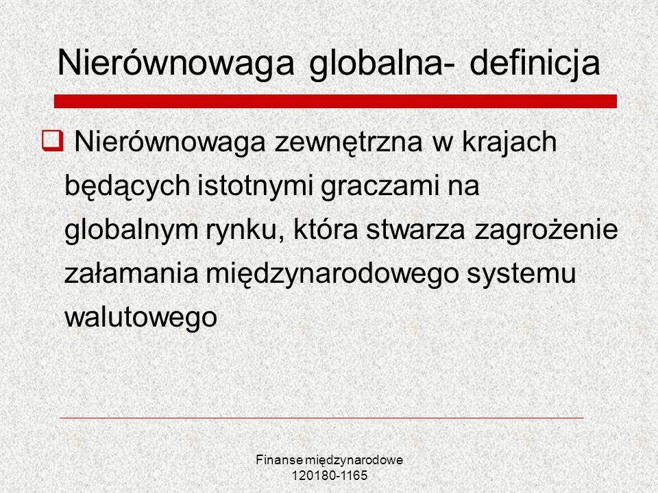 Nierównowaga globalna- definicja