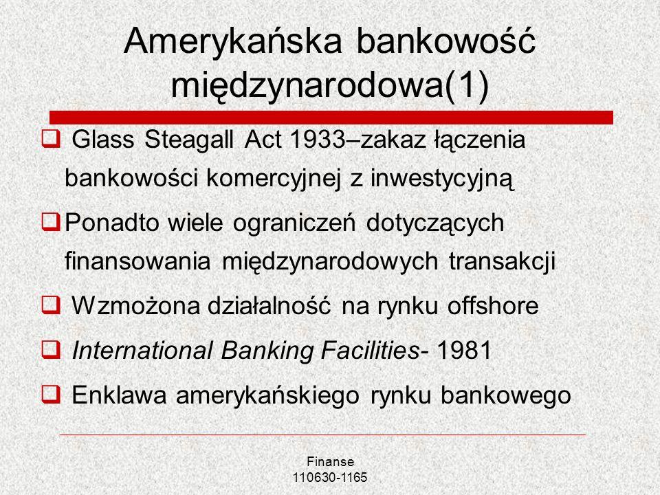 Amerykańska bankowość międzynarodowa(1)
