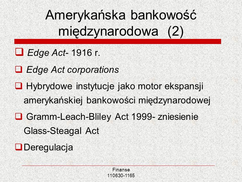 Amerykańska bankowość międzynarodowa (2)