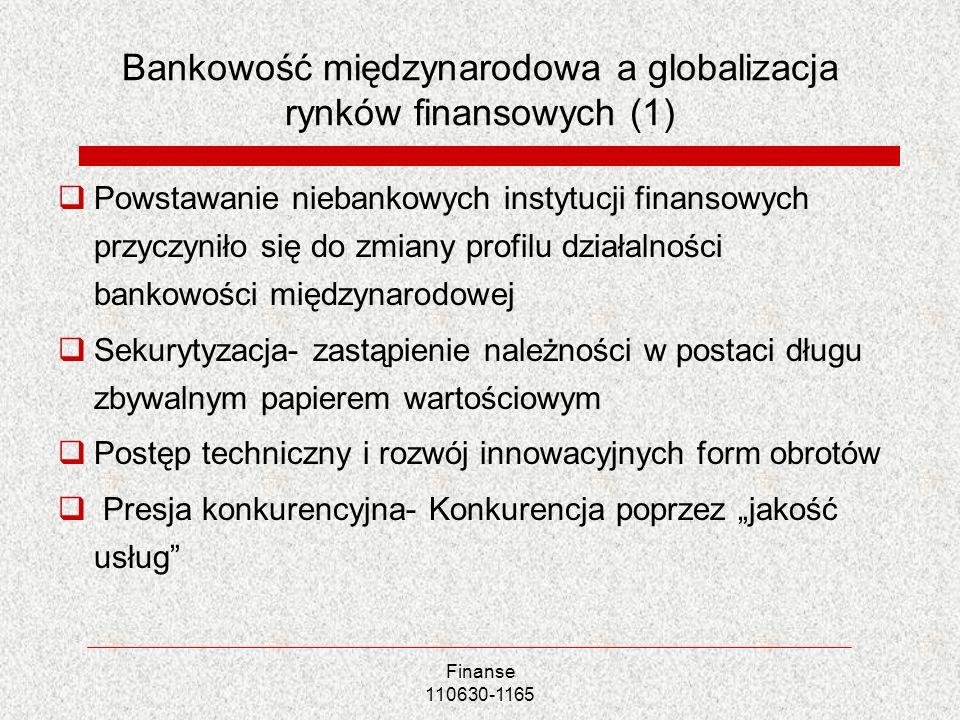 Bankowość międzynarodowa a globalizacja rynków finansowych (1)