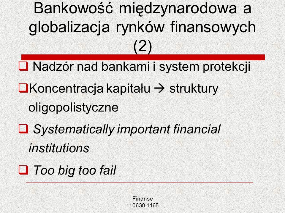 Bankowość międzynarodowa a globalizacja rynków finansowych (2)