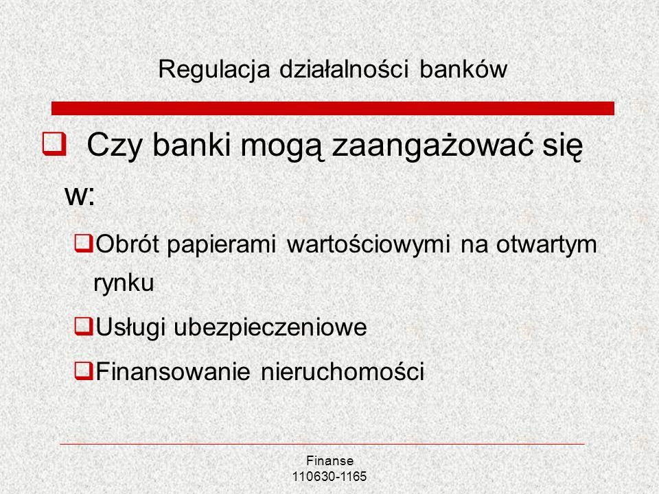 Regulacja działalności banków