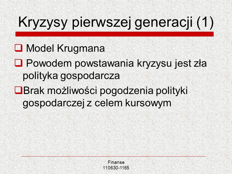 Kryzysy pierwszej generacji (1)