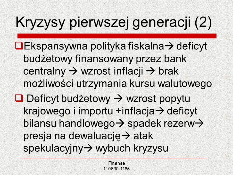 Kryzysy pierwszej generacji (2)