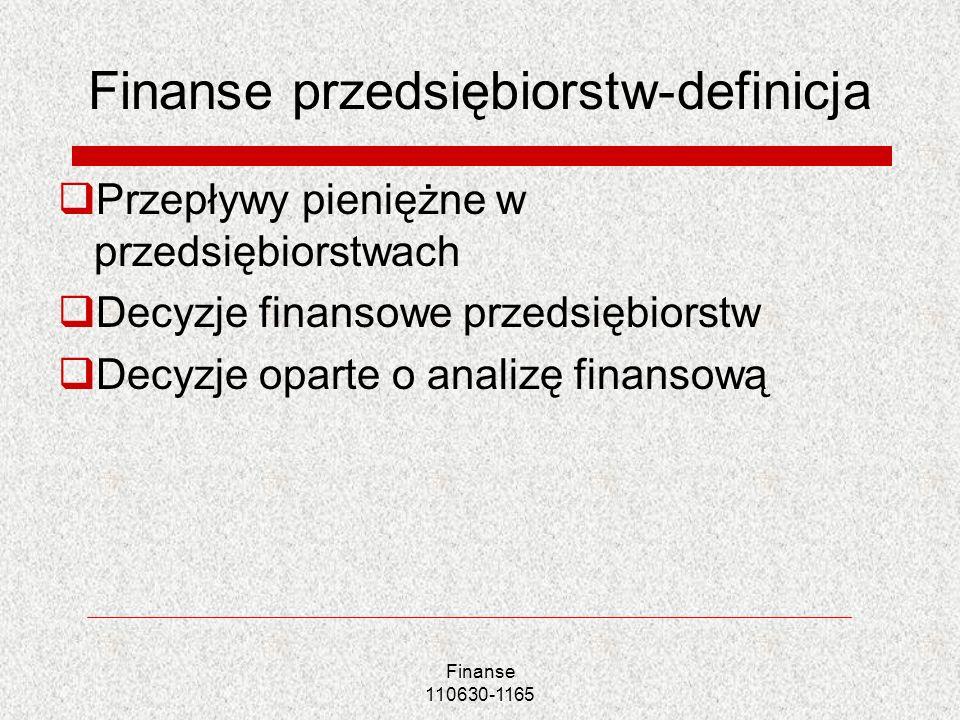 Finanse przedsiębiorstw-definicja