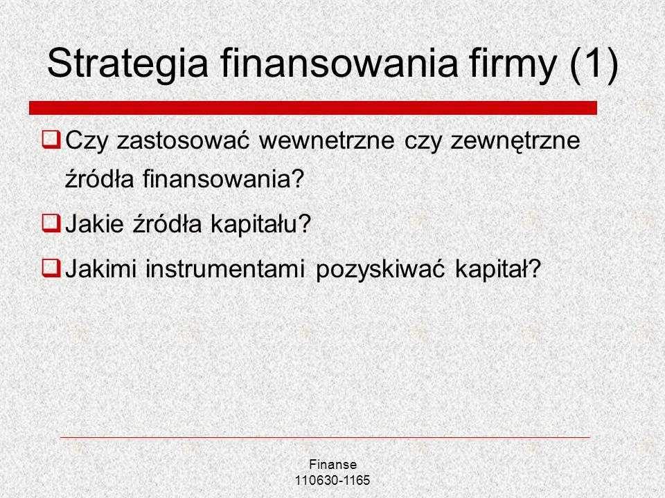 Strategia finansowania firmy (1)