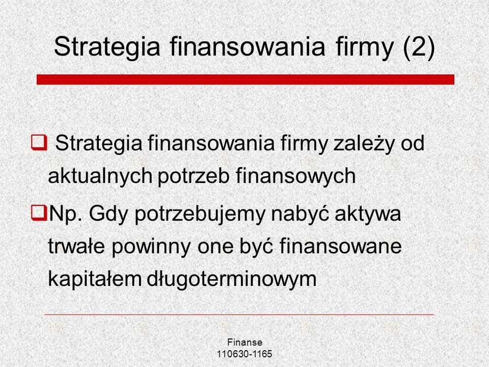 Strategia finansowania firmy (2)
