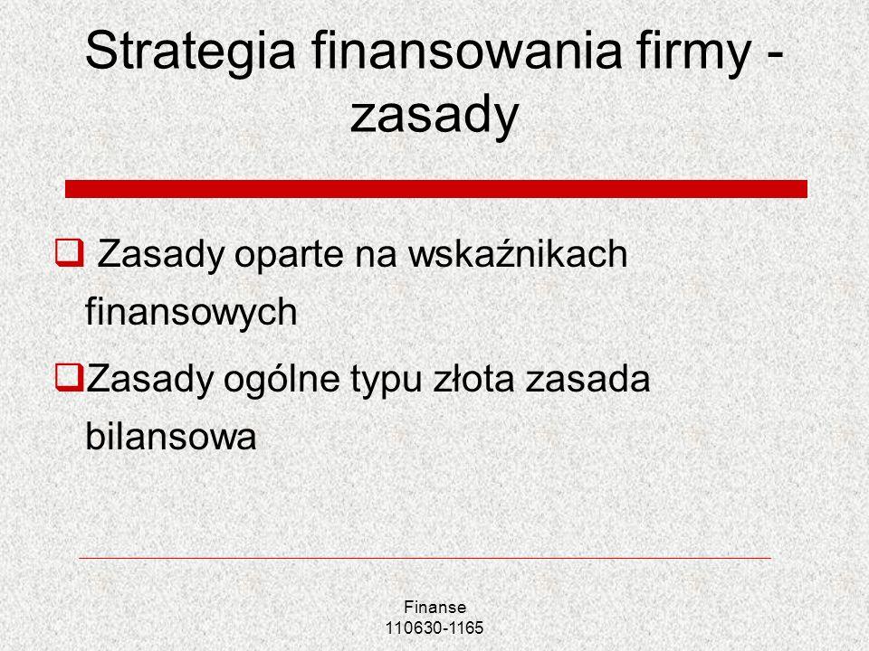 Strategia finansowania firmy -zasady