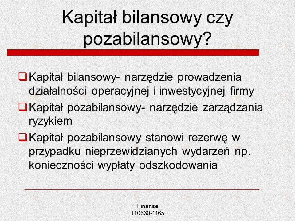 Kapitał bilansowy czy pozabilansowy