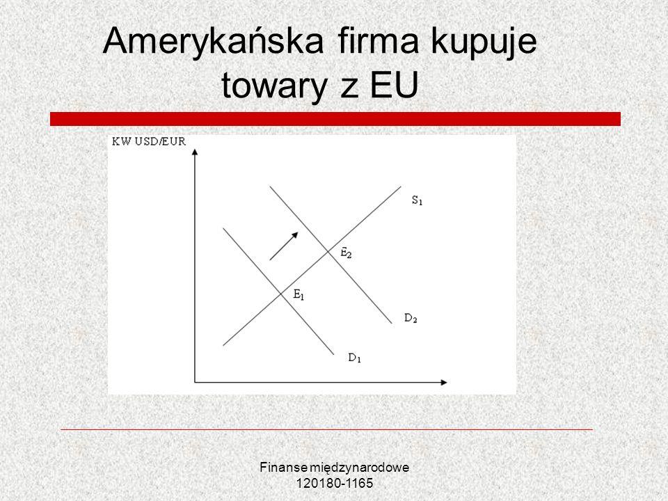 Amerykańska firma kupuje towary z EU