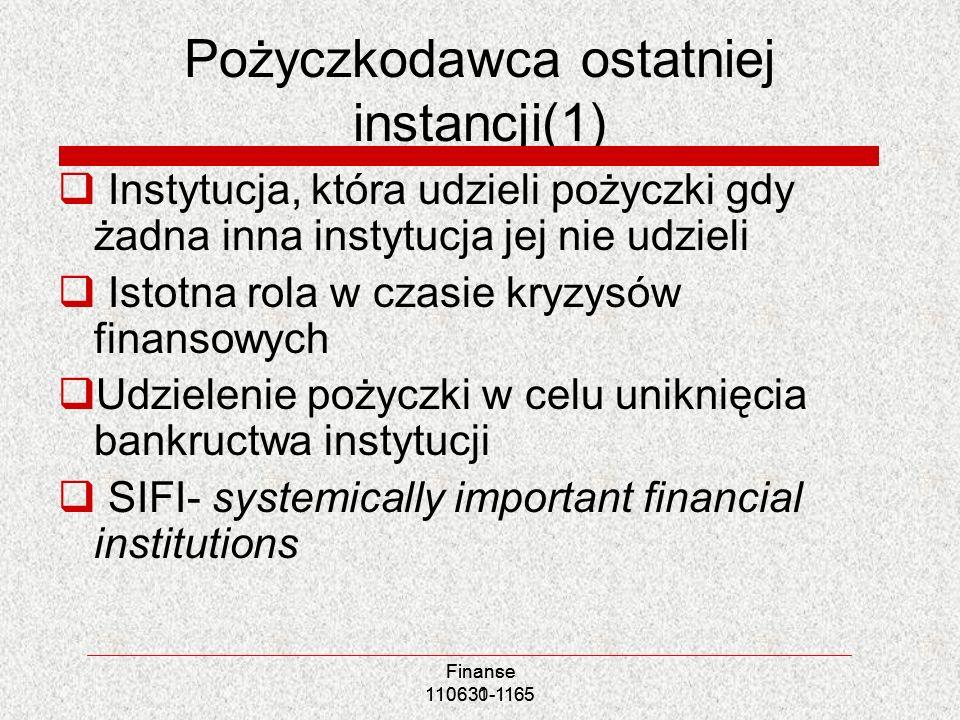 Pożyczkodawca ostatniej instancji(1)