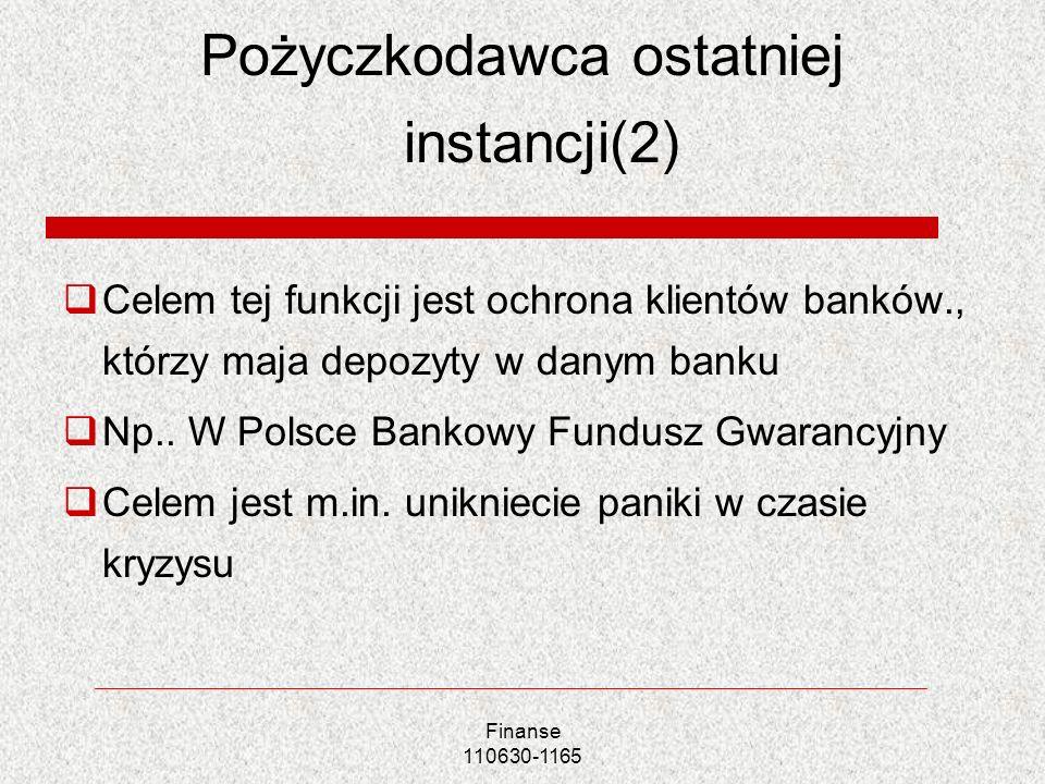 Pożyczkodawca ostatniej instancji(2)