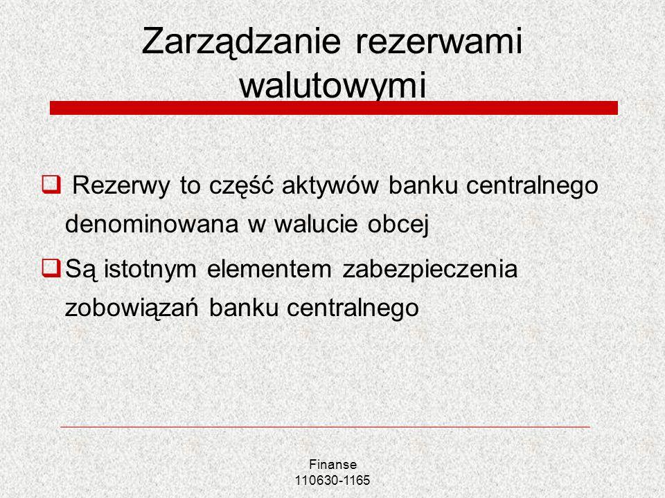 Zarządzanie rezerwami walutowymi