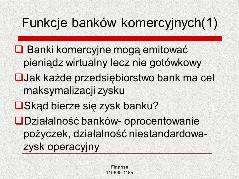 Funkcje banków komercyjnych(1)