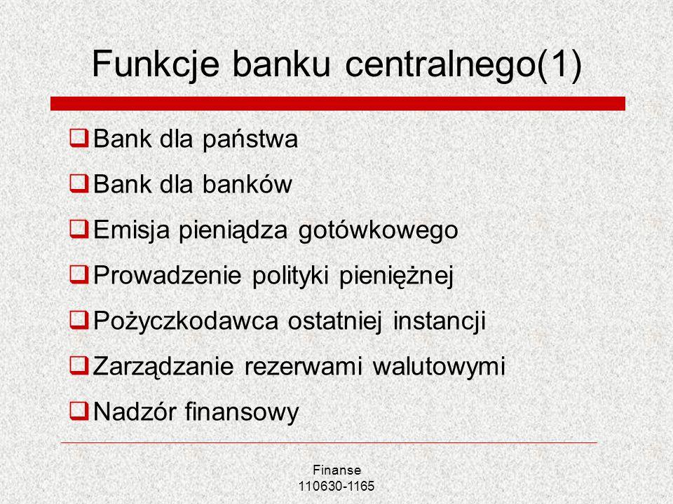 Funkcje banku centralnego(1)