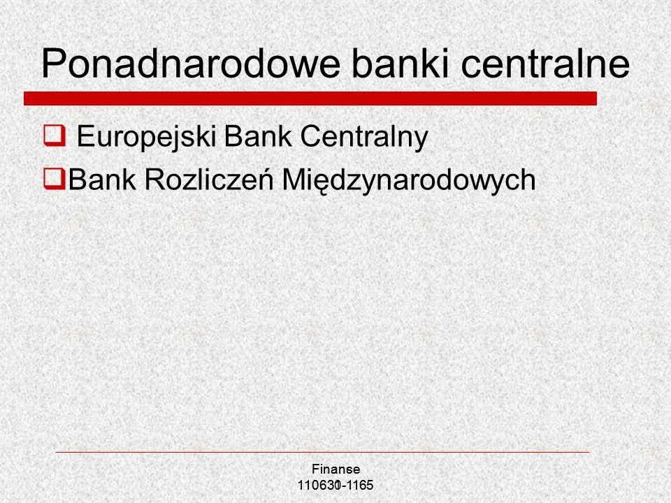 Ponadnarodowe banki centralne