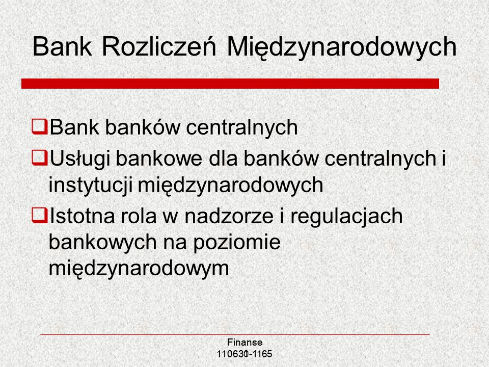 Bank Rozliczeń Międzynarodowych