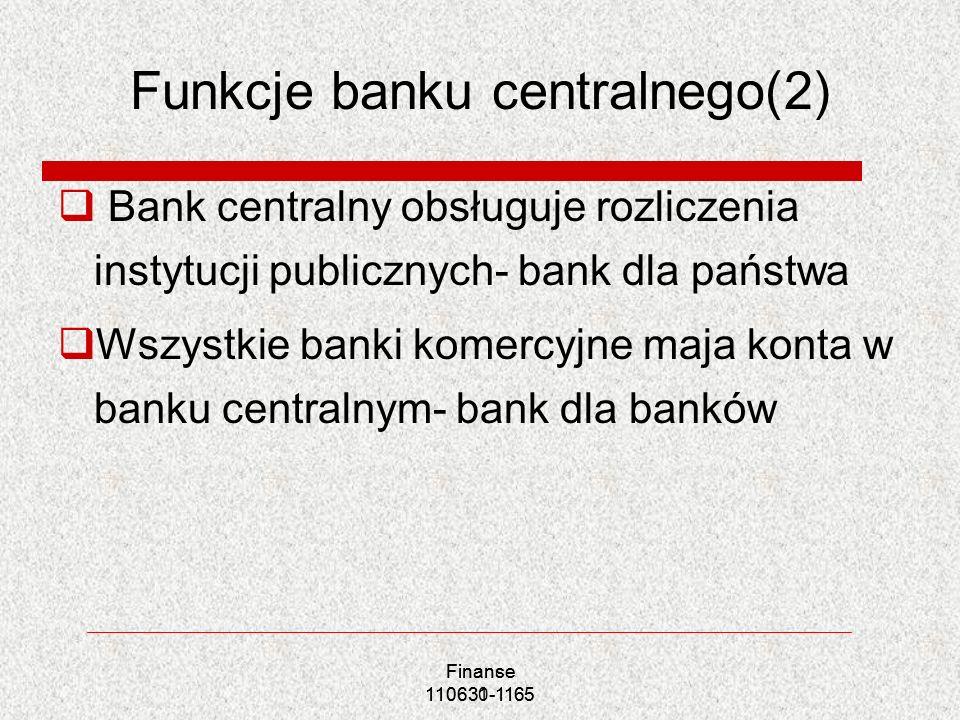 Funkcje banku centralnego(2)
