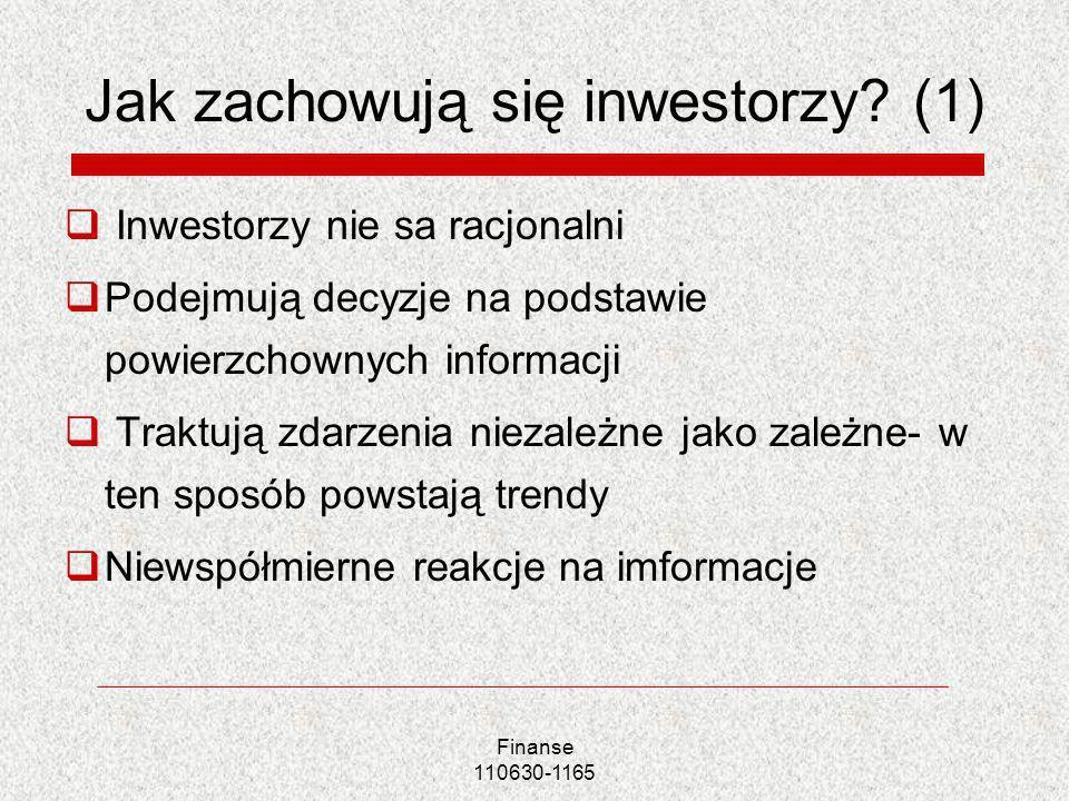 Jak zachowują się inwestorzy (1)